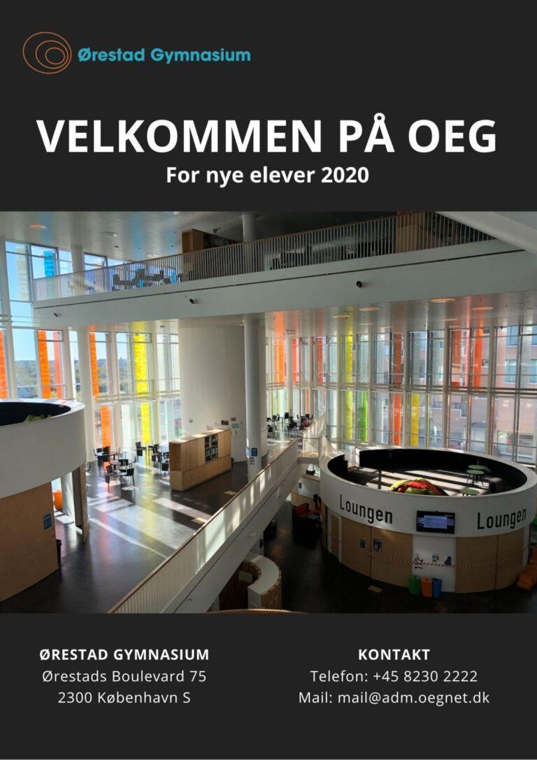 Velkomstfolder nye elever 2020 Ørestad Gymnasium